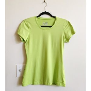 Under Armour Shirt Fitted Heatgear Neon Crew Neck